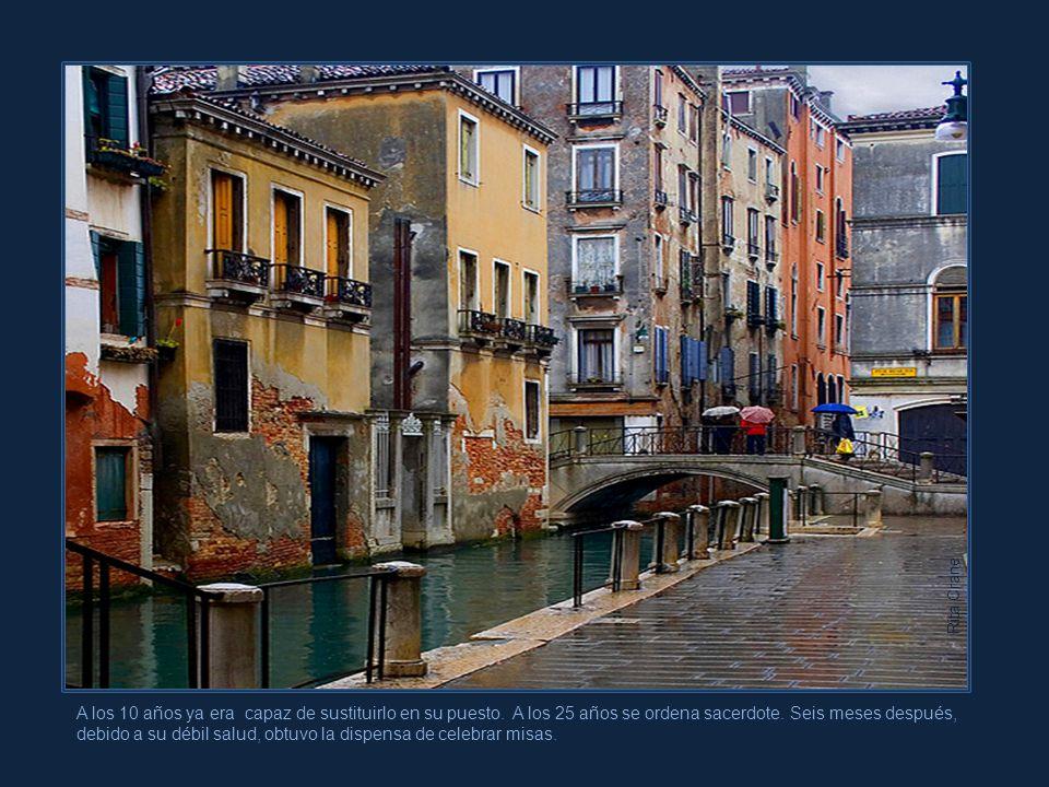 Antonio Lucio Vivaldi nació en un hogar muy pobre de Venecia. Desde temprana edad estudió violín bajo la guía de su padre, un excelente violinista de