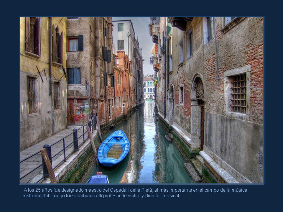 Pese a ello, siempre regresa pues es demasiado su amor por Venecia y por el Ospedali, su gran escuela.