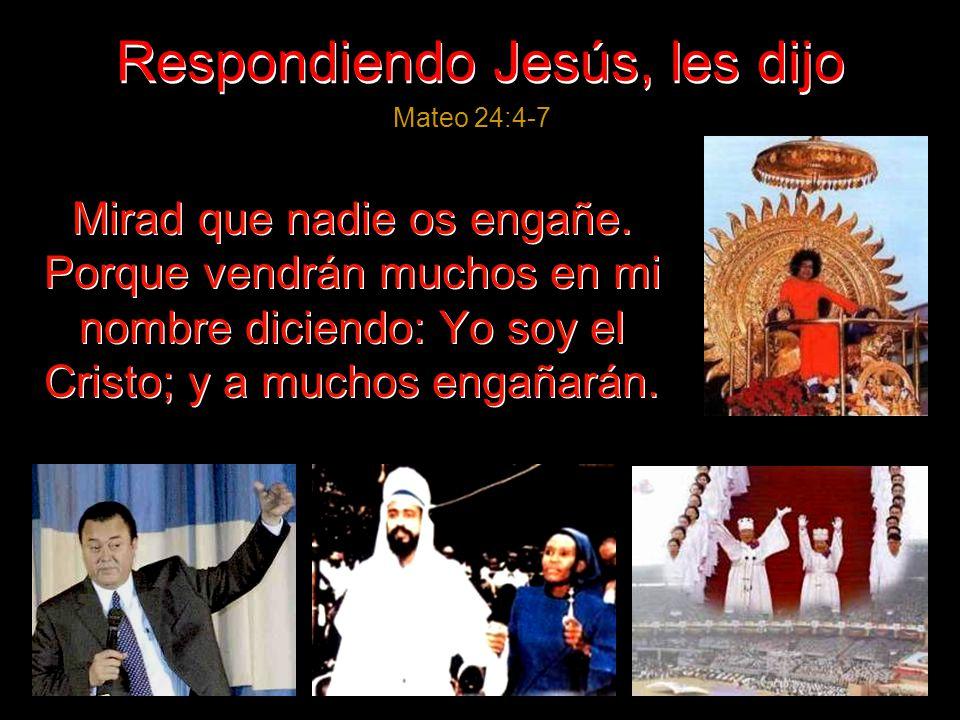 Estando Él sentado en el monte de los Olivos, los discípulos se le acercaron aparte, diciendo: Mateo 24:3 «Dinos, ¿cuándo serán éstas cosas, y qué señ