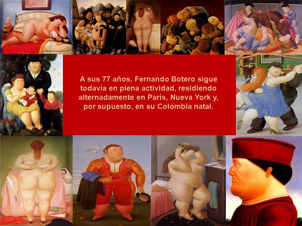 A Botero se lo conoce dentro del universo del impresionismo abstracto por sus vibrantes y coloridas pinturas de personajes deliberadamente desproporci