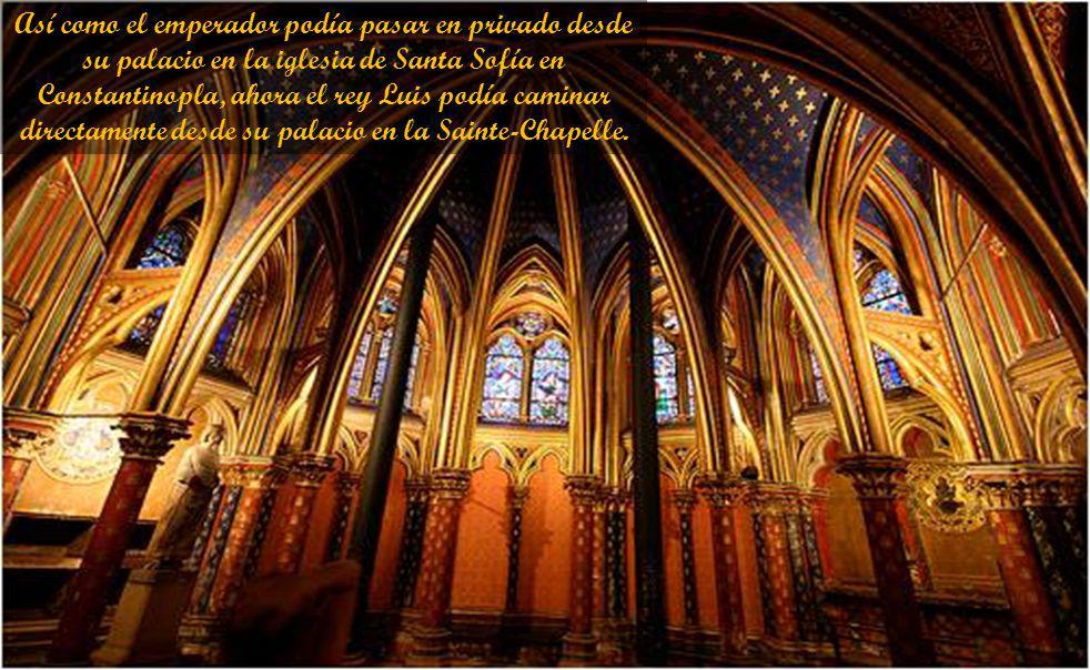 En el momento que la capilla real de Luis fue construido, el trono imperial de Constantinopla fue ocupada por un simple conde de Flandes y el Sacro Im