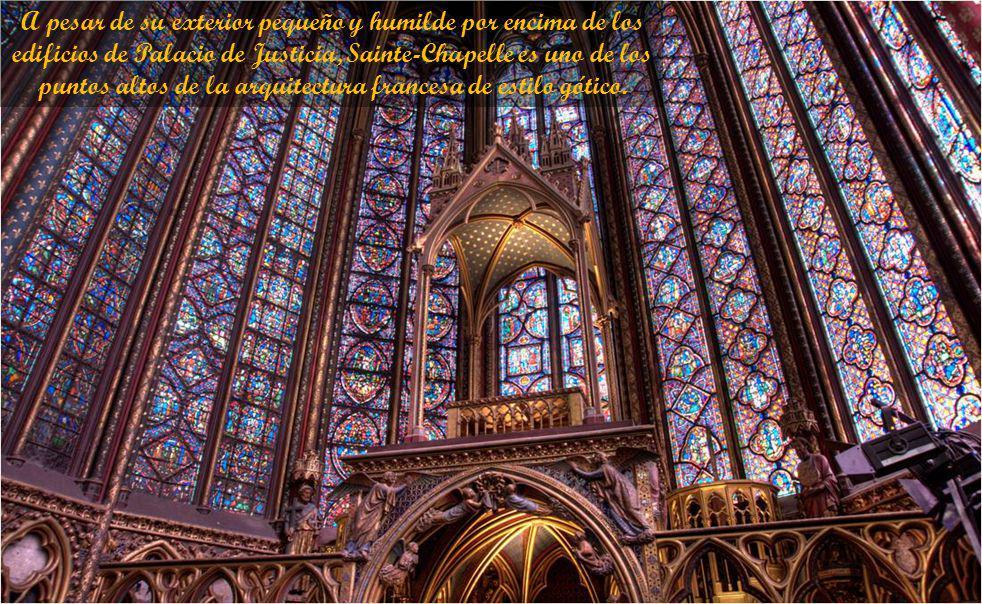 En el siglo 19, Viollet-le-Duc restauró la capilla. La torre actual es su diseño. Sainte-Chapelle, ha sido un monumento histórico nacional desde 1862.