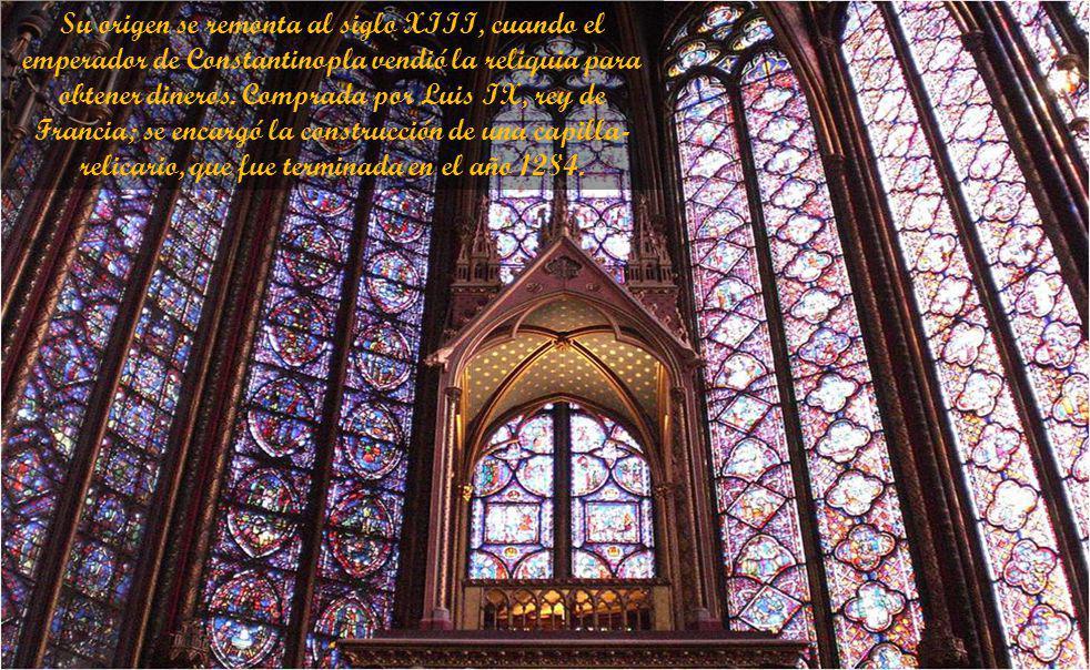 Se trata de una capilla de pequeñas dimensiones, en un estilo de gran pureza, destinada a acoger la corona de espinas de Cristo. La edificación esta e