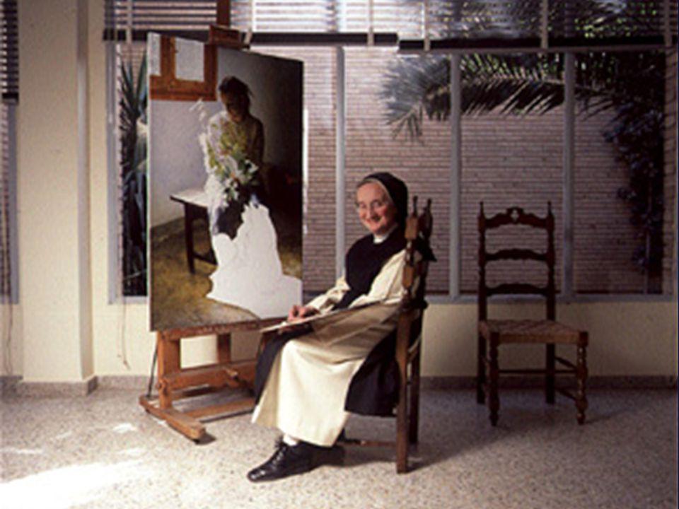 Isabel Guerra es la monja pintora que, desde su clausura en el monasterio cisterciense de Santa Lucía, Zaragoza, llega cada dos o tres años a Madrid para exponer sus cuadros: llenazo asegurado, venta total.