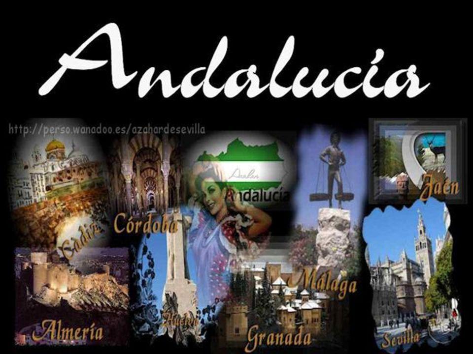 Andalucía está compuesta por las provincias de Almería, Cádiz, Córdoba, Granada, Huelva, Jaén, Málaga y Sevilla.