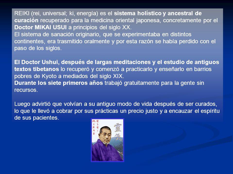 El practicante de REIKI tiene cinco lemas o principios de vida sencilla que se reflejan en este pentálogo enunciado por del Dr.