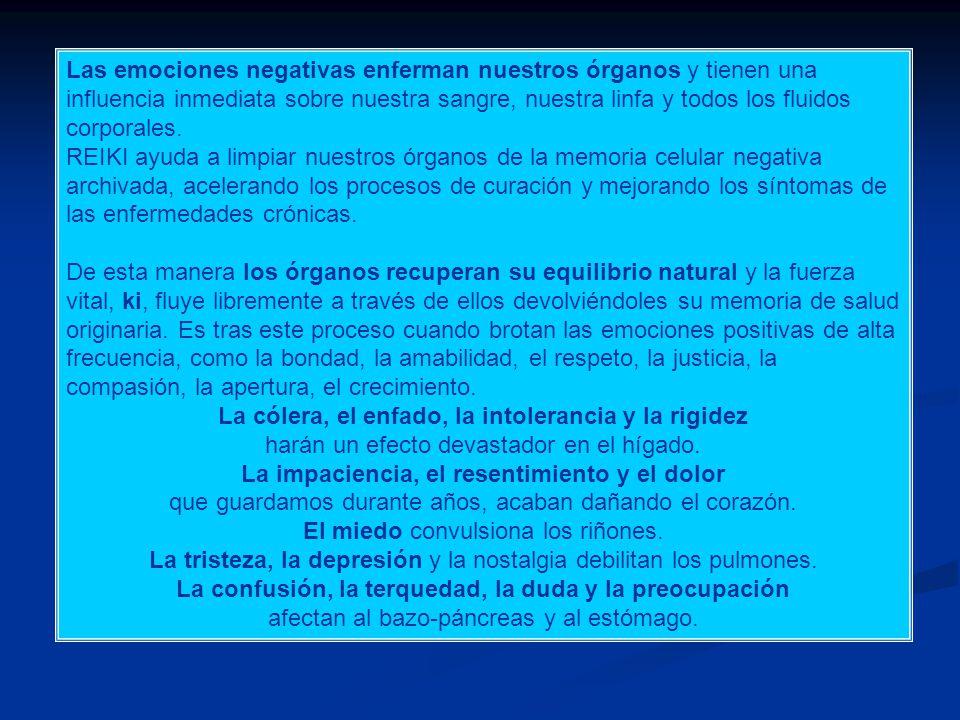Conclusiones La energía REIKI, que se transfiere por el Método Ushui de equilibrio natural es energía de Vida.