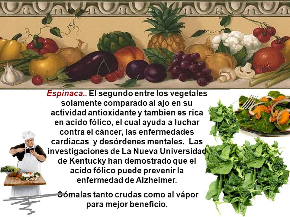Ajo.. Investigadores Alemanes han encontrado que el ajo tiene en su composición antioxidantes que se sabe ayudan a librarse del cancer, enfermedades c