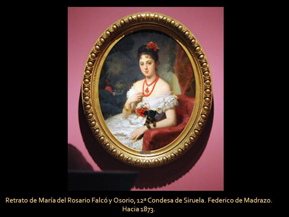Retrato de Eugenia de Montijo, Condesa de Teba. Federico de Madrazo. 1849.