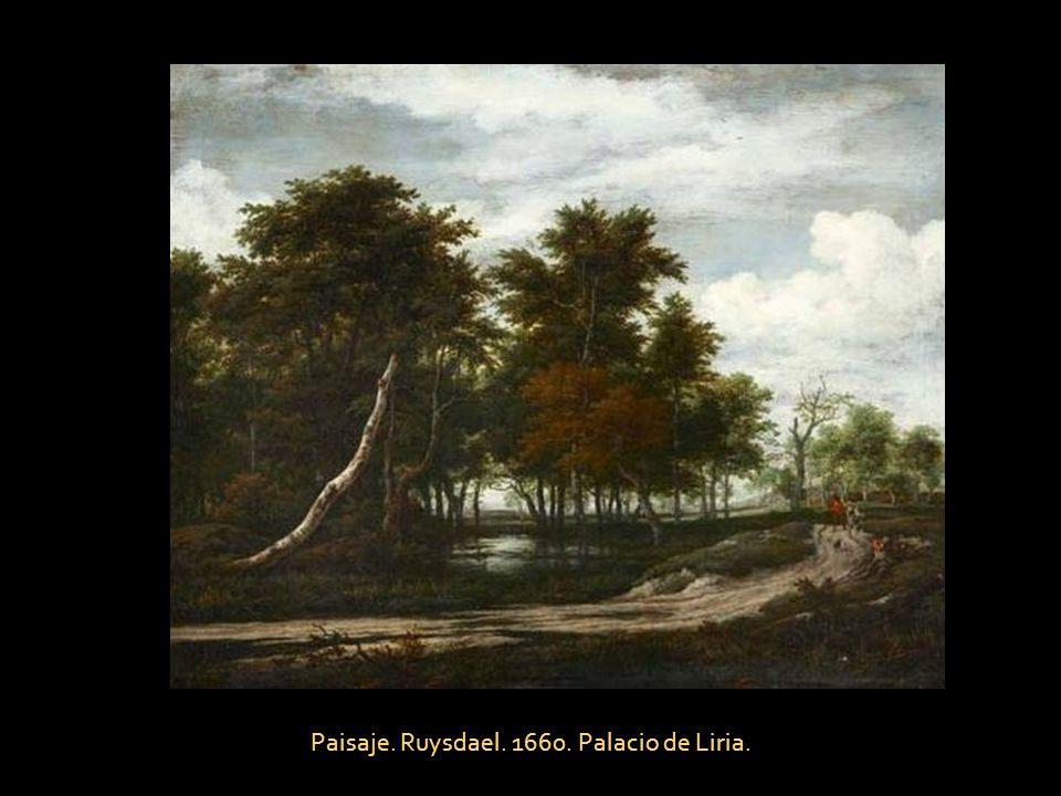 Capricho arquitectónico con ruinas romanas y figuras. Francesco Guardi, 1712-1781. Palacio de Liria.