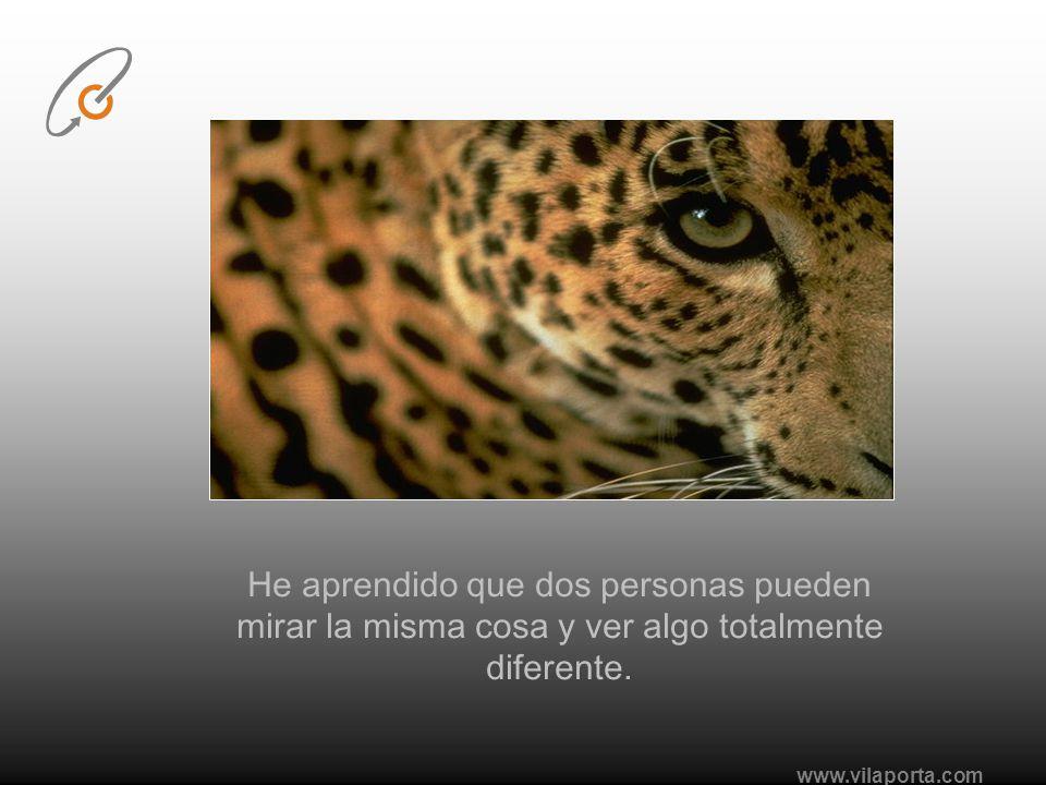 www.vilaporta.com He aprendido que mientras mis antecedentes y circunstancias pueden haber influenciado en lo que soy, yo soy el responsable de lo que