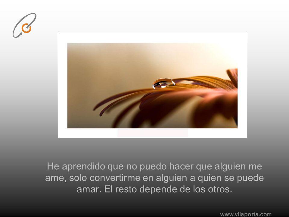 www.vilaporta.com He aprendido que tanto escribir como hablar, alivia los dolores emocionales.