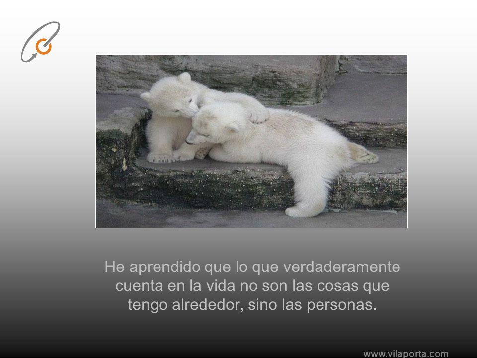 www.vilaporta.com He aprendido que aunque la palabra amor pueda tener diferentes significados, pierde su valor cuando se utiliza con ligereza...