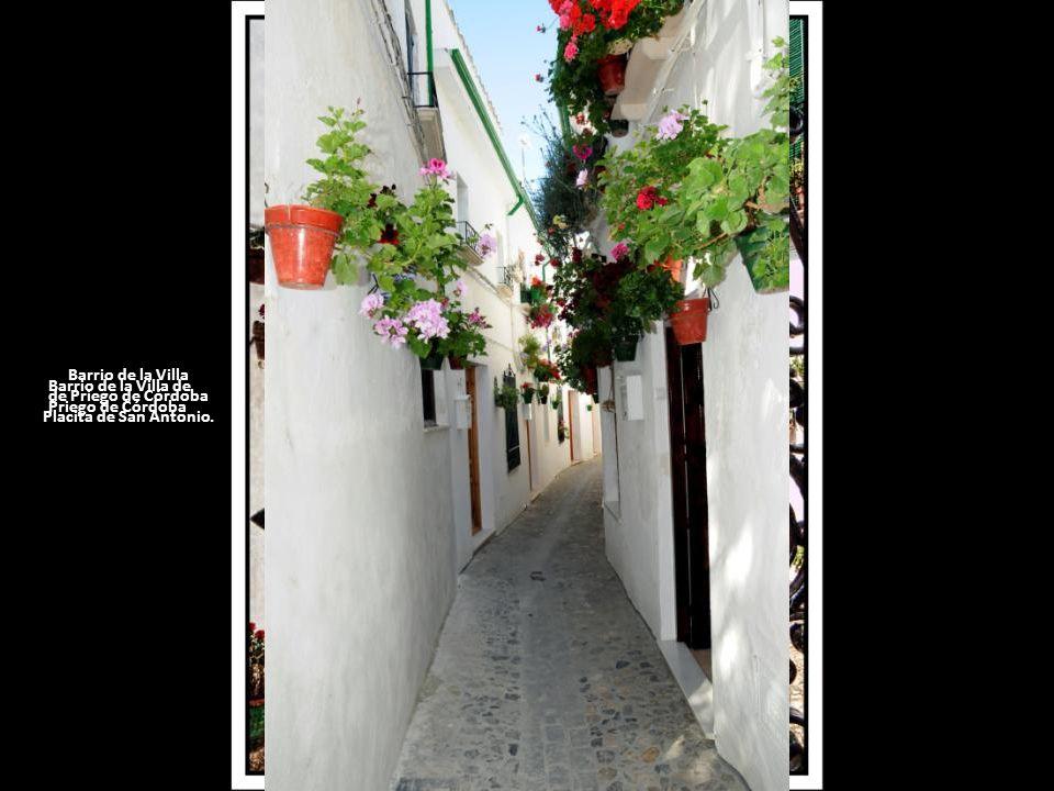 Barrio de la Villa de Priego de Córdoba Placita de San Antonio.