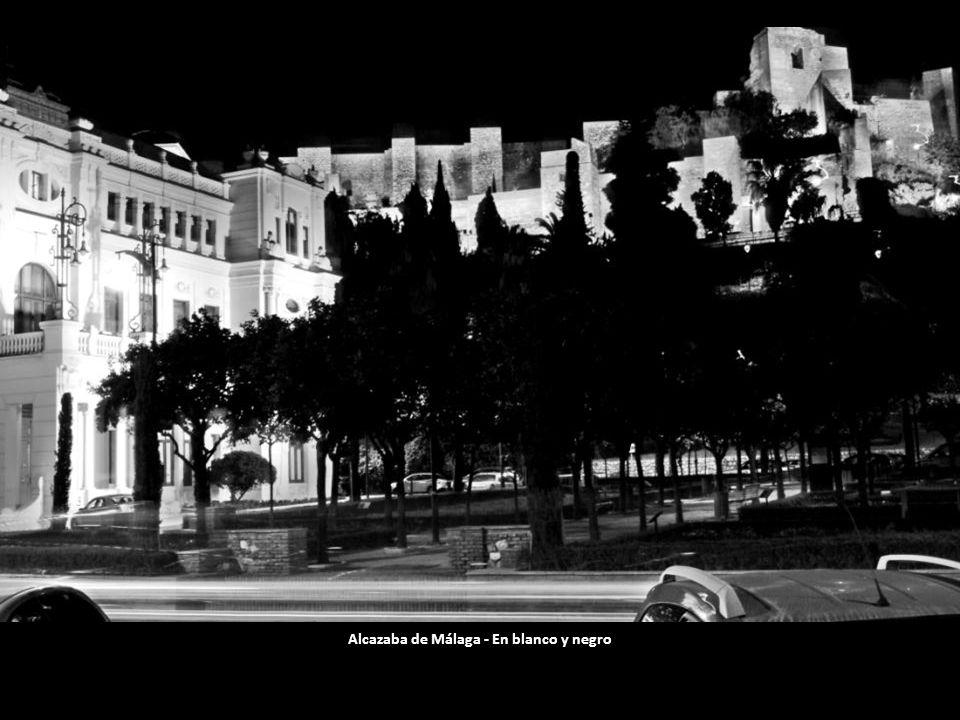 Alcazaba de Málaga - En blanco y negro