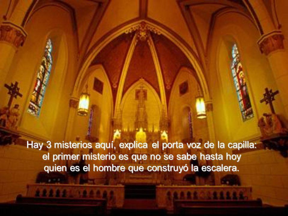 Enviado por Jesús Cristo para atender las súplicas de las hermanas. Desde entonces, la escalera pasó a ser llamada de milagrosa, y se transformó en un