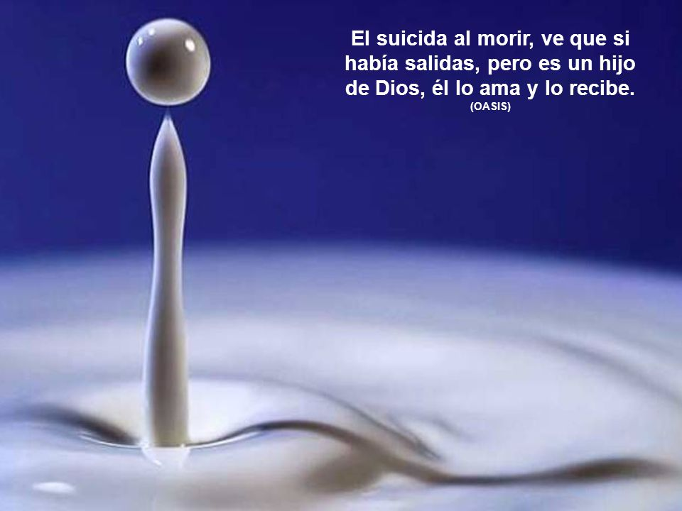 Una muerte repentina no es fácil de aceptar, se debe orar para ayudarle al ser amado a que la acepte y se una con Dios. (OASIS)