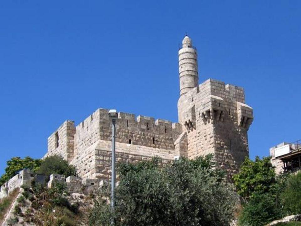Torre de David Imagen de la Torre de David en la Ciudadela, próxima a la Puerta de Jaffa.
