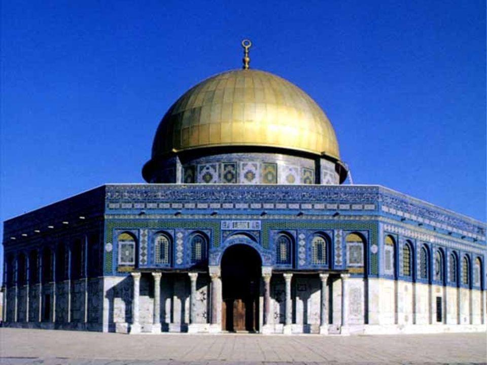 Mezquita del Templo de la Roca La Mezquita del Templo de la Roca caracterizada por su hermosa cúpula dorada.