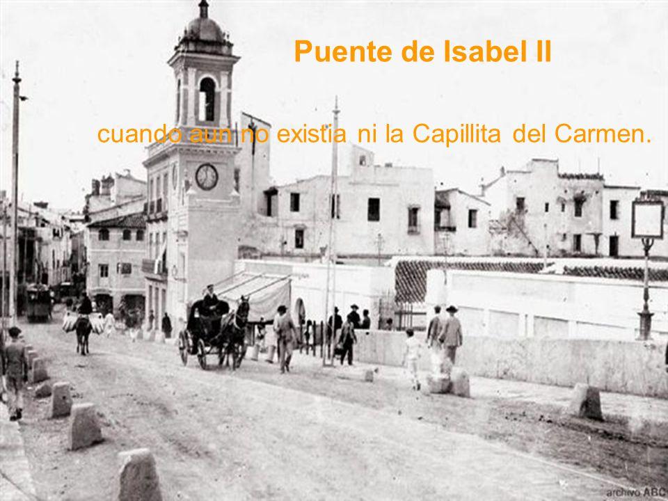 Puente de San Telmo probando la resistencia de la estructura. Los Remedios eran aun un campito