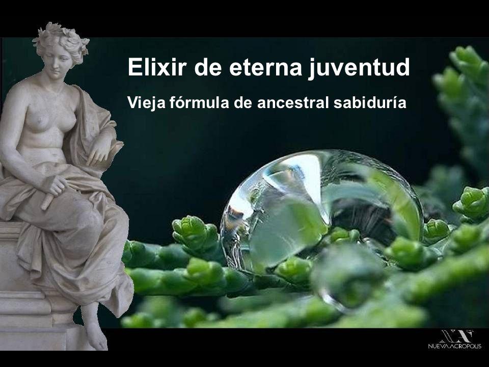 Vieja fórmula de ancestral sabiduría Elixir de eterna juventud