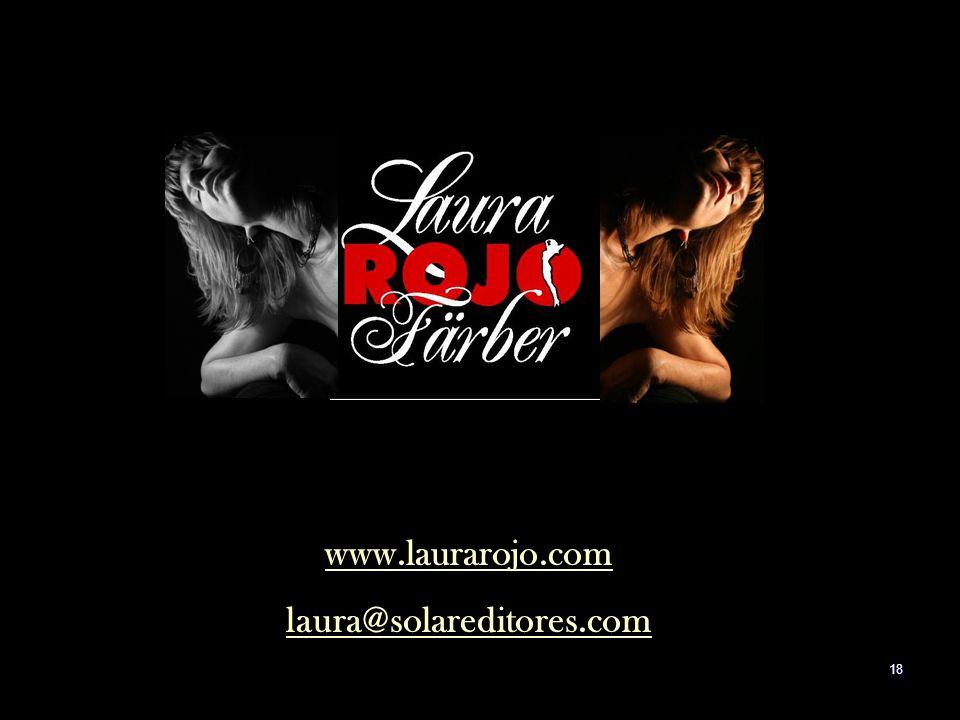 17 Laura Rojo Färber laura@solareditores.com Calle 2 No. 21 San Pedro de los Pinos 03800 México, D.F. MEXICO +52 (55) 55 15 16 57 Cel (044 55) 32 00 1