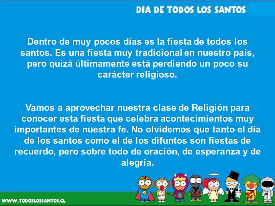 ¿En qué consiste la Celebración de todos los Santos.
