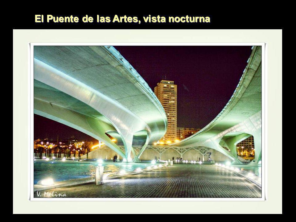 El Puente de las Artes, vista nocturna