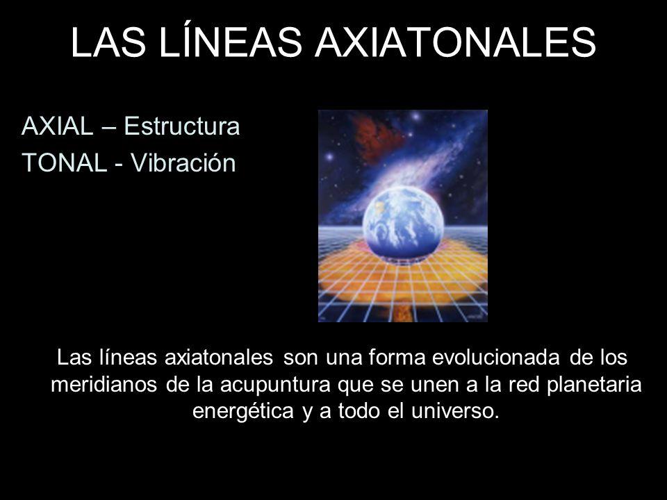 LAS LÍNEAS AXIATONALES AXIAL – Estructura TONAL - Vibración Las líneas axiatonales son una forma evolucionada de los meridianos de la acupuntura que s