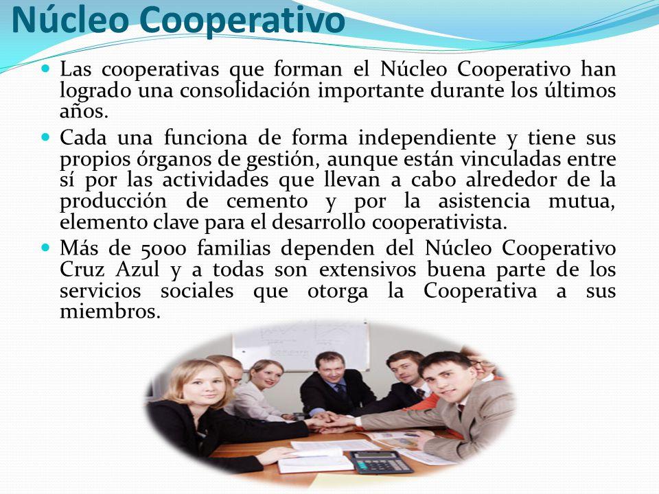 Núcleo Cooperativo Las cooperativas que forman el Núcleo Cooperativo han logrado una consolidación importante durante los últimos años.