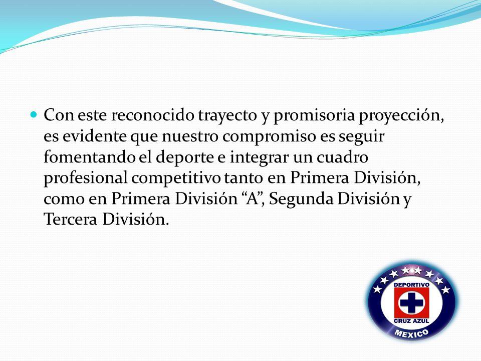 Con este reconocido trayecto y promisoria proyección, es evidente que nuestro compromiso es seguir fomentando el deporte e integrar un cuadro profesional competitivo tanto en Primera División, como en Primera División A, Segunda División y Tercera División.