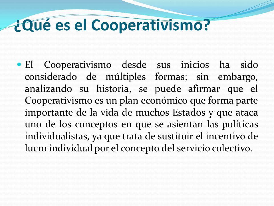 ¿Qué es el Cooperativismo.