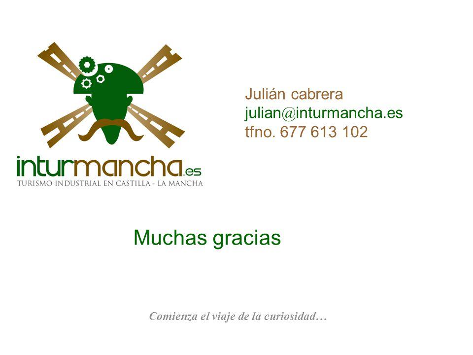 Julián cabrera julian@inturmancha.es tfno. 677 613 102 Muchas gracias Comienza el viaje de la curiosidad…