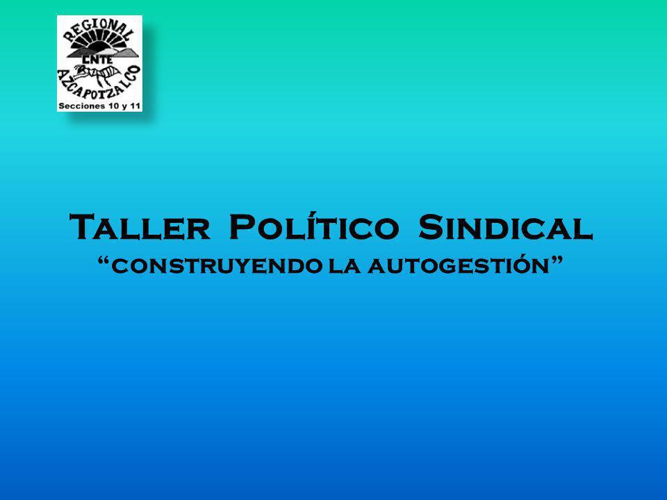 Taller Político Sindical construyendo la autogestión