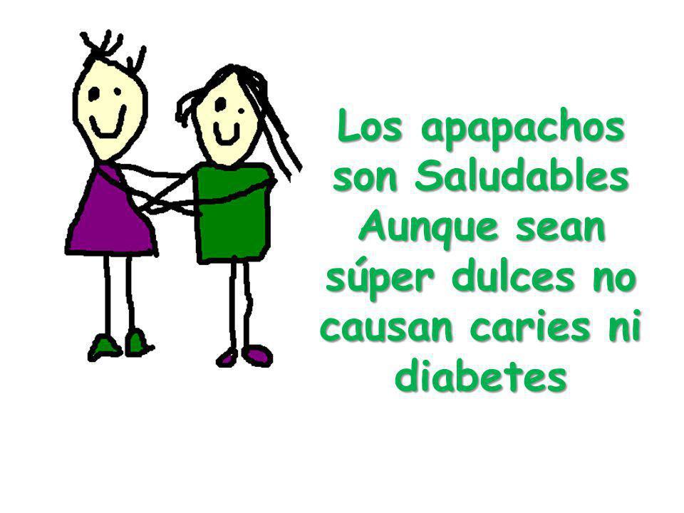 Los apapachos son Saludables Aunque sean súper dulces no causan caries ni diabetes