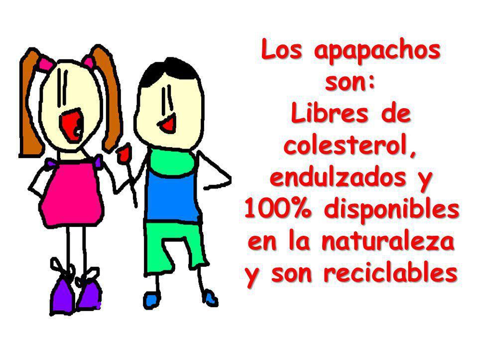 Los apapachos son: Libres de colesterol, endulzados y 100% disponibles en la naturaleza y son reciclables