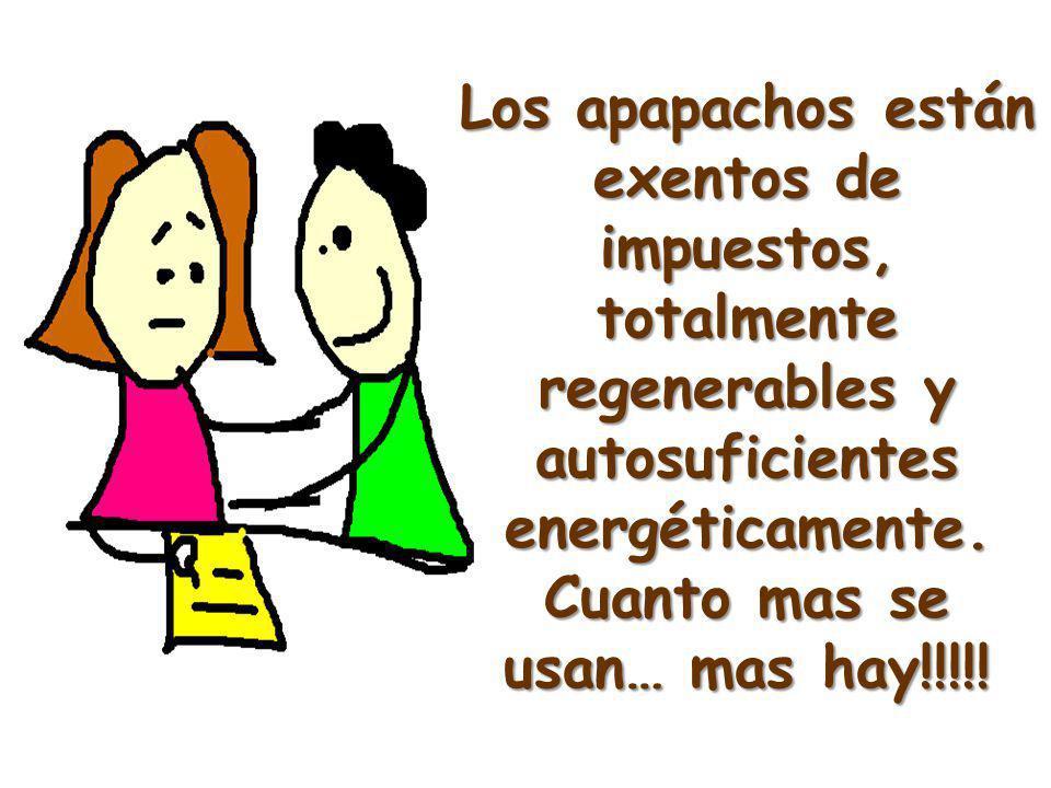 Los apapachos están exentos de impuestos, totalmente regenerables y autosuficientes energéticamente. Cuanto mas se usan… mas hay!!!!!