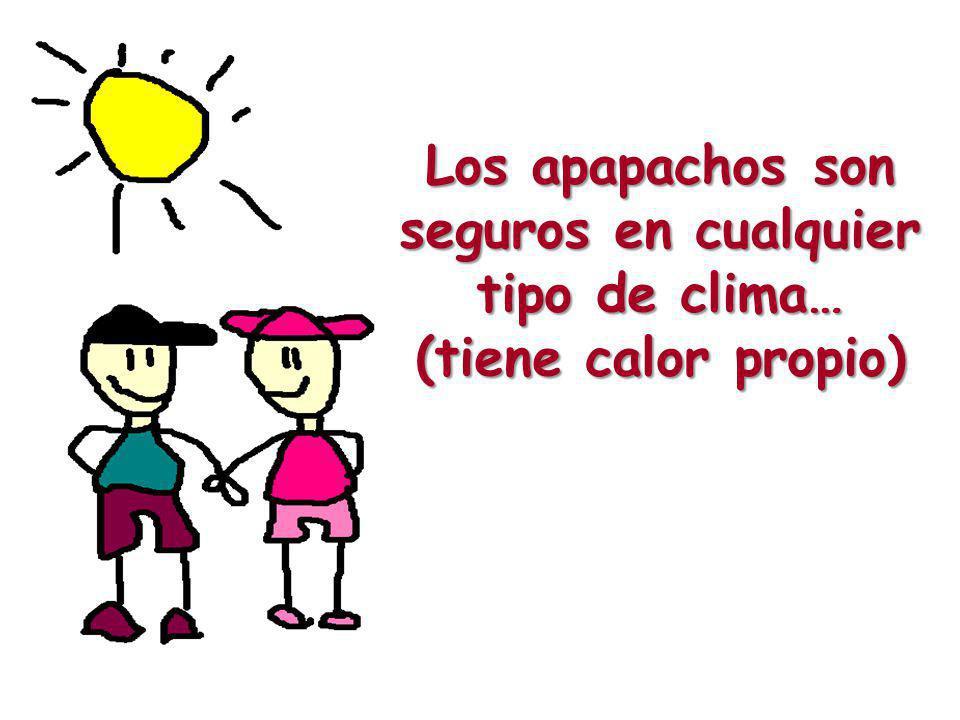 Los apapachos son seguros en cualquier tipo de clima… (tiene calor propio)