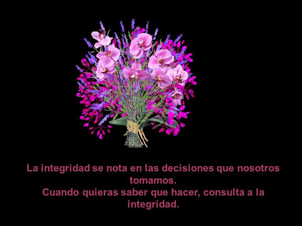 La integridad se nota en las decisiones que nosotros tomamos.