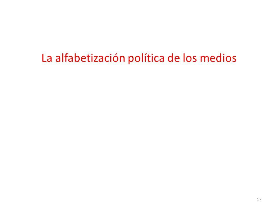 La alfabetización política de los medios 17