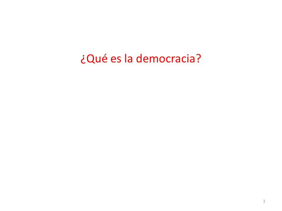 ¿Es posible la democracia.