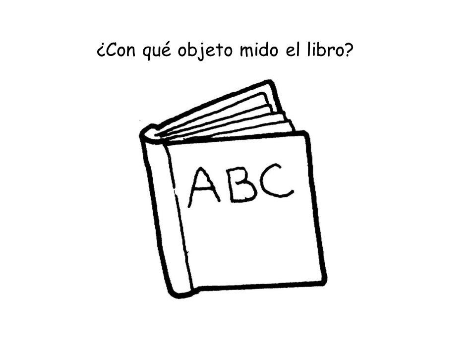 ¿Con qué objeto mido el libro?
