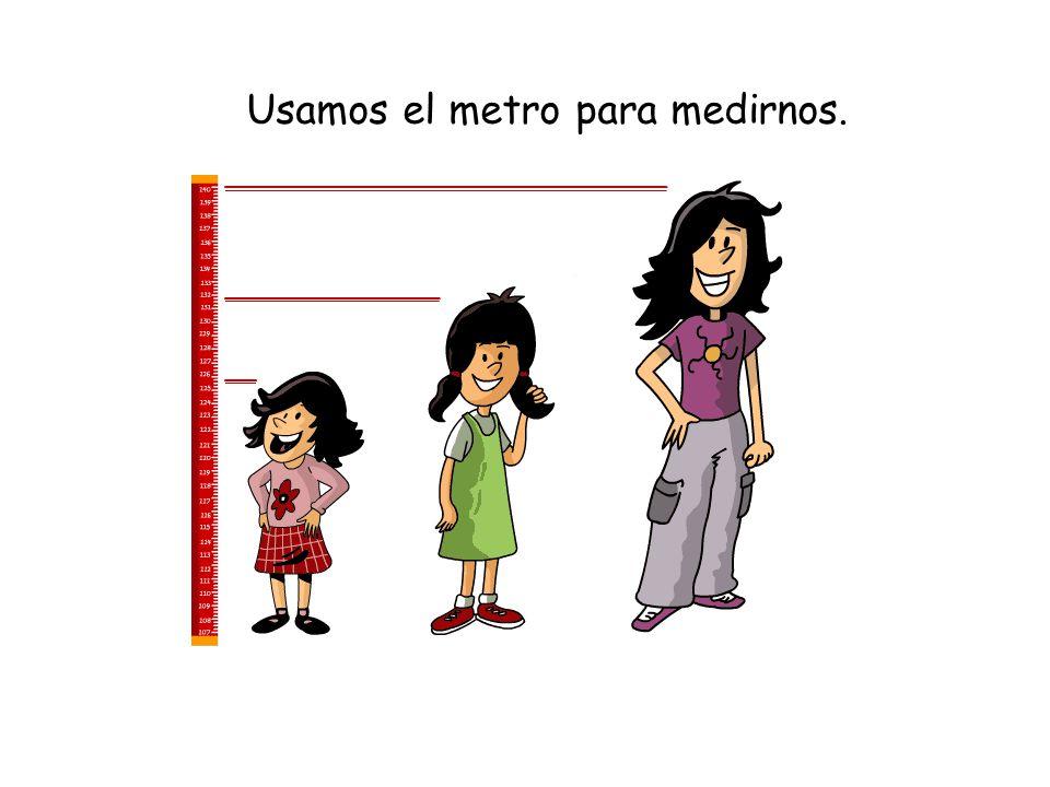 Usamos el metro para medirnos.