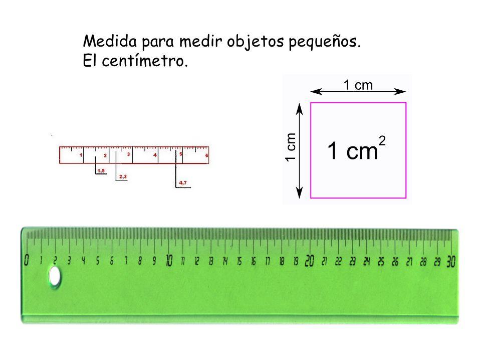 Medida para medir objetos pequeños. El centímetro.
