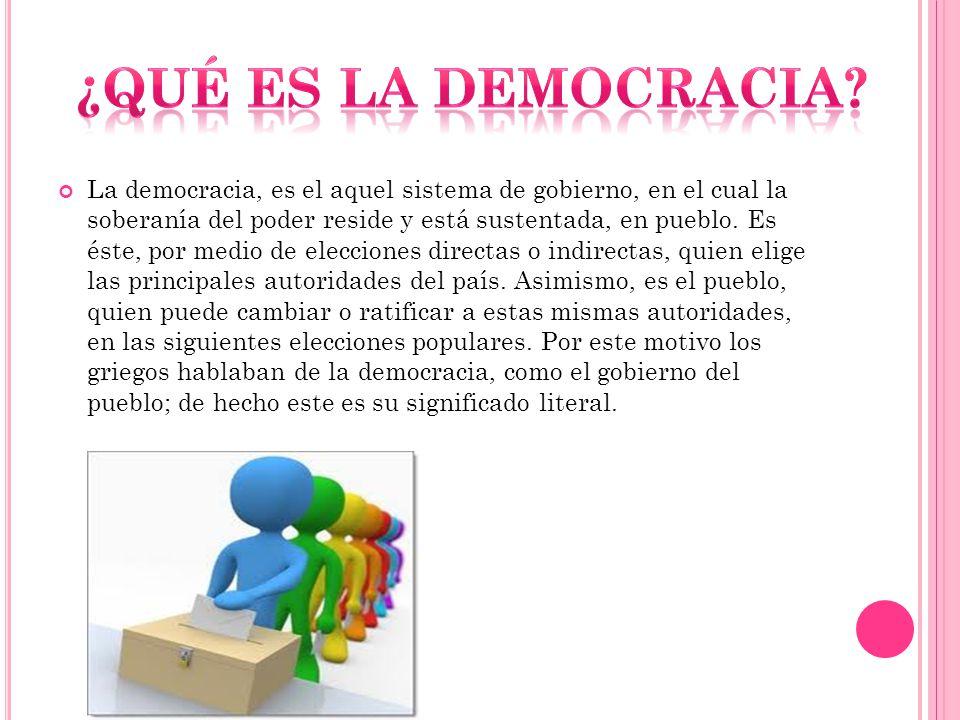 democráticamente.