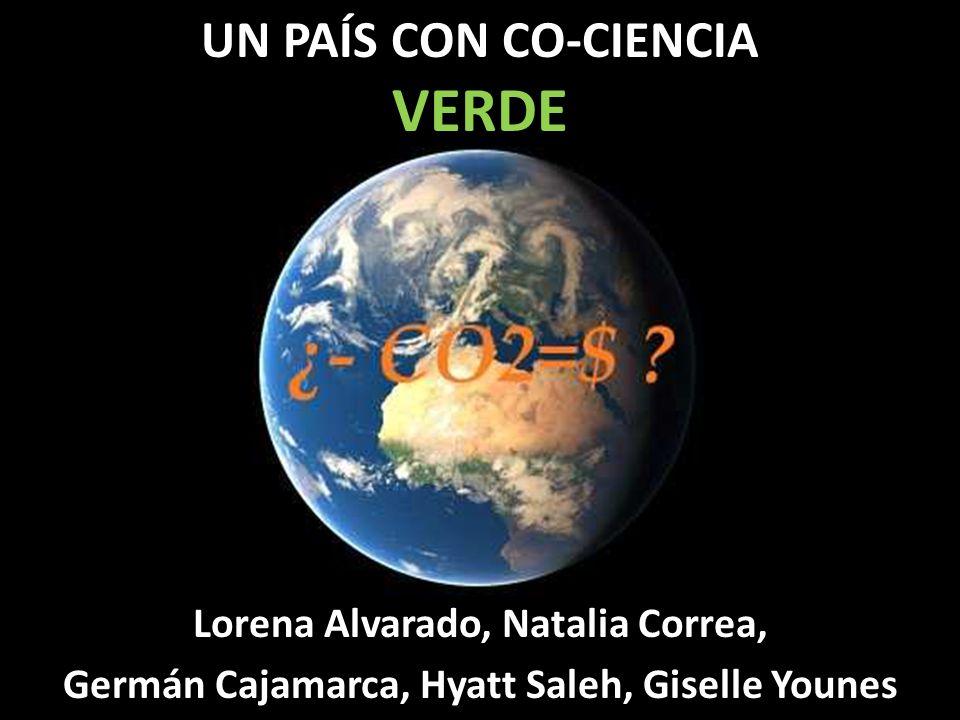 UN PAÍS CON CO-CIENCIA VERDE Lorena Alvarado, Natalia Correa, Germán Cajamarca, Hyatt Saleh, Giselle Younes