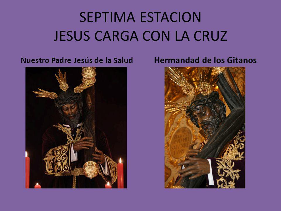 SEXTA ESTACION JESUS ES FLAGELADO Y CORONADO DE ESPINAS Jesús de la Salud y Buen Viaje Hermandad de San Esteban