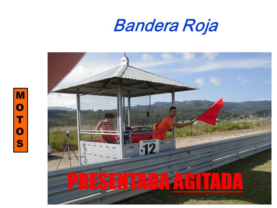 MOTOSMOTOS Bandera Roja PRESENTADA AGITADA