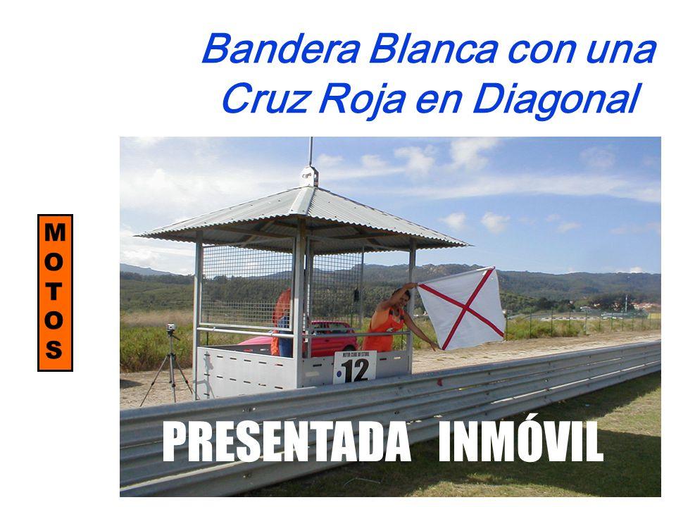Bandera Blanca con una Cruz Roja en Diagonal MOTOSMOTOS PRESENTADA INMÓVIL