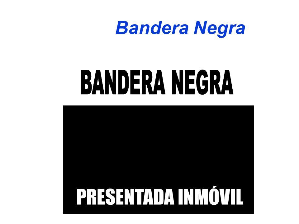 Bandera Negra PRESENTADA INMÓVIL